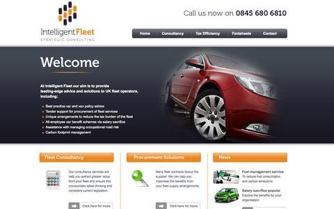 Screenshot of Home Page intelligentfleet.co.uk - Intelligent fleet consultancy, car consultants, fleet review, ECO schemes, salary sacrifice cars - captured Oct. 6, 2014