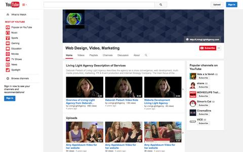 Screenshot of YouTube Page youtube.com - Web Design, Video, Marketing  - YouTube - captured Oct. 22, 2014