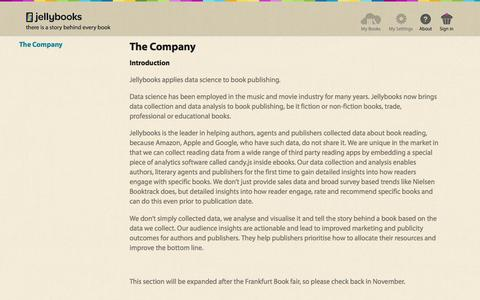 Jellybooks - The Company  - Pages