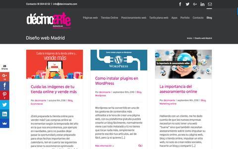 Screenshot of Blog decimoarte.com - Diseño web Madrid - Blog décimoarte - captured Nov. 23, 2016