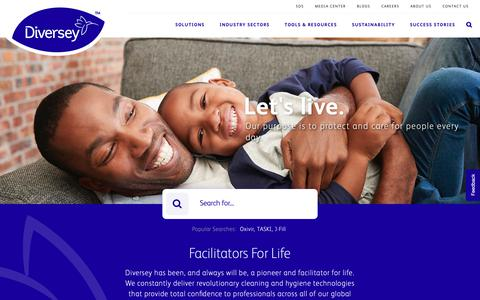 Screenshot of Home Page diversey.com - Diversey | Let's live. - captured March 7, 2019