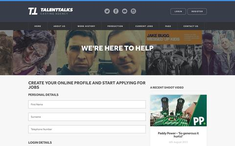 Screenshot of Signup Page talenttalks.co.uk - Sign Up | Talent Talks - captured Aug. 12, 2015
