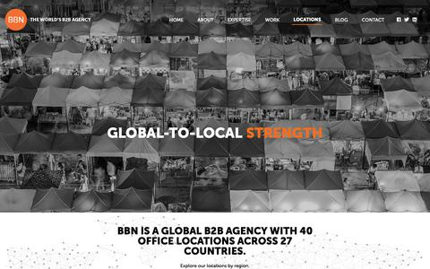 Screenshot of Locations Page bbn-international.com - Locations – BBN - captured Oct. 4, 2018
