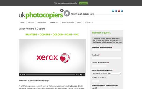 Screenshot of Products Page uk-photocopiers.co.uk - Laser Printers for Sale   Colour Printers   Office Print - captured Nov. 16, 2016