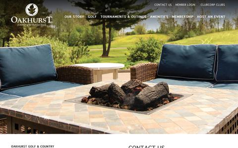 Screenshot of Contact Page clubcorp.com - Contact Us | Oakhurst Golf & Country Club - captured Oct. 18, 2018