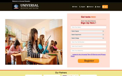 Screenshot of Signup Page universaleducation.in - Sign Up | UNIVERSAL EDUCATION - captured Aug. 12, 2016