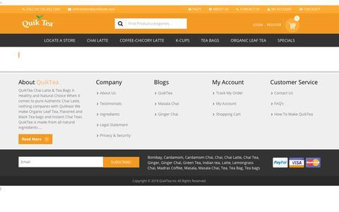 Screenshot of Testimonials Page quiktea.com - SP Testimonials Archive - QuikTea - captured July 25, 2018