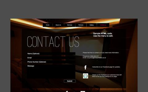 Screenshot of Contact Page avexpression.co.nz - Auckland's Audio/Visual and Home Automation Specialists - 0508 283 977 - Contact us - captured Dec. 23, 2015