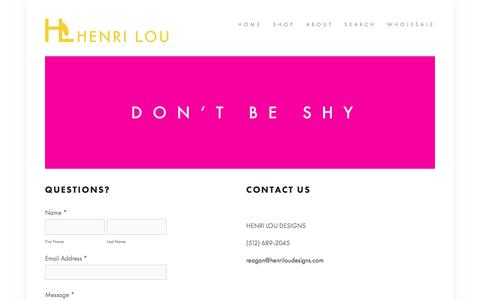 Screenshot of Contact Page henriloudesigns.com - Blog - HENRI LOU DESIGNS - captured Aug. 29, 2017