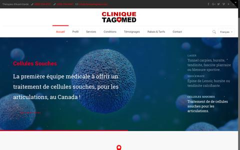 Screenshot of Home Page cliniquetagmed.com - Ostéopathie - Physiothérapie - Shockwave - Laval - Terrebonne - captured May 18, 2017