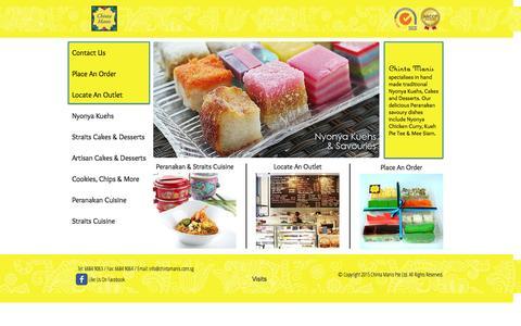 Screenshot of Press Page chintamanis.com.sg - Chinta Manis - captured July 20, 2015