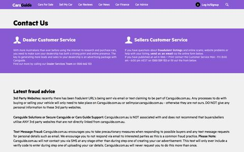 Screenshot of Contact Page carsguide.com.au - Contact Us- CarsGuide - captured Sept. 18, 2014