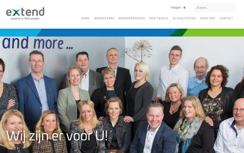 Screenshot of Team Page extendmvo.nl - Extend team - Extend MVO - captured Sept. 30, 2018