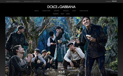 Screenshot of Home Page dolcegabbana.com - Dolce&Gabbana Official Site and On Line Store - The Fall Winter 2014 2015 Collections - captured Sept. 18, 2014
