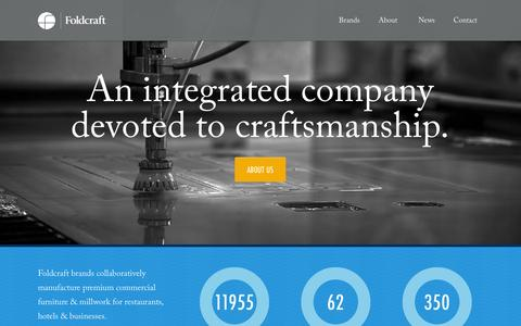 Screenshot of Home Page foldcraft.com - Foldcraft - captured Sept. 30, 2014
