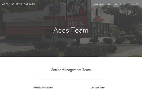 Screenshot of Team Page acespizza.com - Aces Team — Aces LLC Little Caesars - captured Feb. 5, 2016