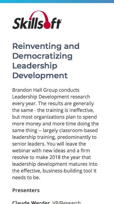 Reinventing and Democratizing Leadership Development