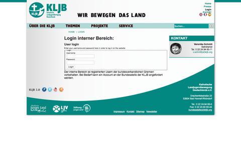 Screenshot of Login Page kljb.org - KLJB: Login - captured June 11, 2016