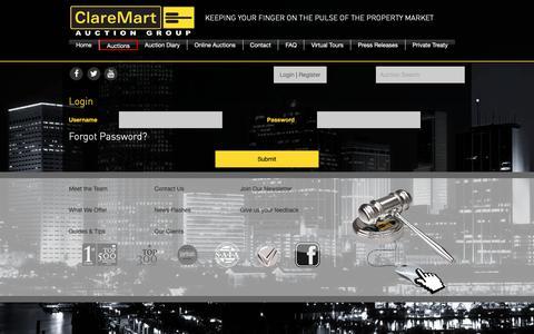 Screenshot of Login Page claremart.co.za - Log in | ClareMart - Auction Group - captured Nov. 10, 2018