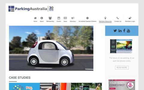 Screenshot of Case Studies Page parking.asn.au - Case Studies » Parking Australia - captured Oct. 21, 2016
