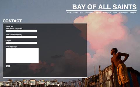 Screenshot of Contact Page bayofallsaints.com - contact   Bay of All Saints - captured May 6, 2016