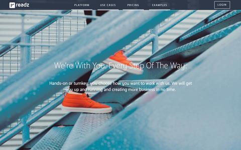 Screenshot of Services Page readz.com - Services | Digital Experiences | Visual Content Marketing | Readz - captured Nov. 29, 2016