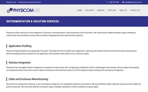 Screenshot of Services Page physicomcorp.com - Physicom Corp. | Application & Integration Services - captured Sept. 28, 2018