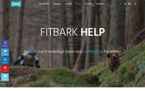 Screenshot of FAQ Page fitbark.com - Support, Help & Frequently Asked Questions | FitBark - captured July 4, 2016