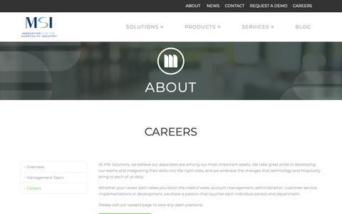 Screenshot of Jobs Page msisolutions.com - Careers at MSI - captured Nov. 16, 2018