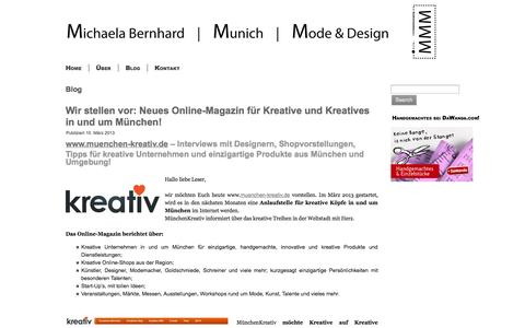 Screenshot of Blog michaela-bernhard.com - Blog | Michaela Bernhard Mode & Design - captured Oct. 27, 2014
