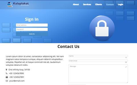 Screenshot of Login Page kalaplakat.com.mk - Kalaplakat - captured Oct. 25, 2018