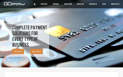 Screenshot of Home Page gdpay.com - Interchange Plus Pricing | Best Credit Card Processing | Point Of Sale Solutions - GDpay - captured July 16, 2015