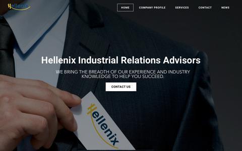 Screenshot of Home Page hellenix.eu - Hellenix | Industrial Relations Advisors - HOME - captured July 18, 2018