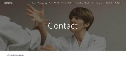 Screenshot of Contact Page google.com - Hassho Dojo - Contact - captured Oct. 28, 2018