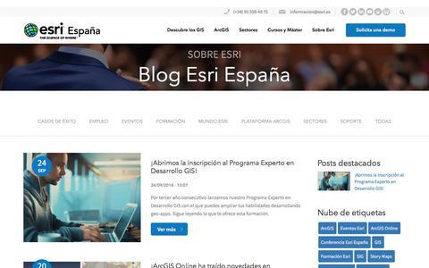 Screenshot of Blog esri.es - Blog Esri España - Esri España - captured Sept. 26, 2018