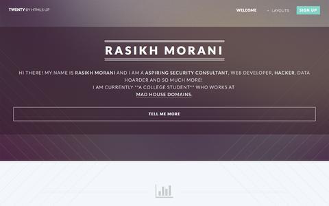 Home | Rasikh Morani