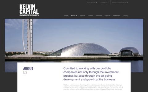 Screenshot of About Page kelvincapital.com - About Us - Kelvin Capital Financial Investment, Investment Opportunities, Investment Advice - captured Sept. 30, 2014