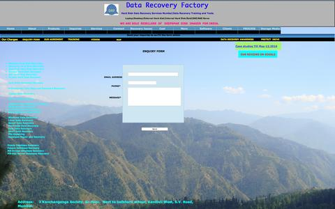 Screenshot of Services Page datarecoveryfactory.com - CONTACT US - captured Nov. 19, 2016