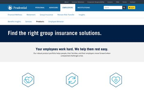 Group Insurance Products | Prudential Financial