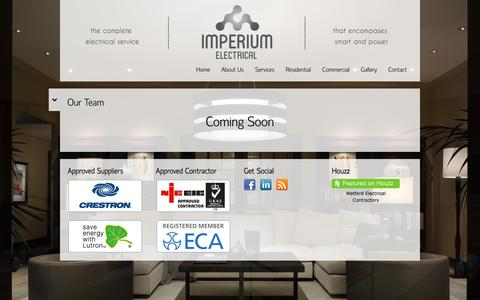 Screenshot of Team Page imperiumelectrical.com - Our Team | Imperium Electrical - captured Sept. 30, 2014