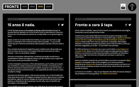 Screenshot of Blog fronte.co - Blog / FRONTE - captured Jan. 8, 2016