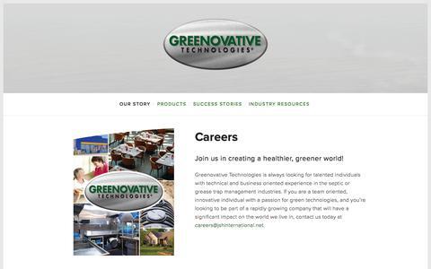 Screenshot of Jobs Page greenovativetechnologies.com - Careers — Greenovative Technologies - captured Jan. 15, 2018
