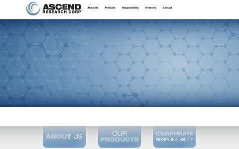 Screenshot of Home Page ascendresearchcorp.com - Ascend Research Corp. | Moving Innovation Forward - captured Nov. 6, 2018