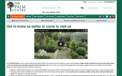 Screenshot of About Page palmcentre.co.uk - About Us | The Palm Centre - captured Nov. 4, 2014