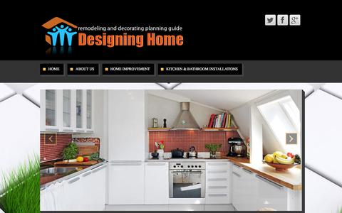 Screenshot of Home Page femalepaintersanddecorators.com - Designing Home - remodeling and decorating planning guide - captured Feb. 9, 2016