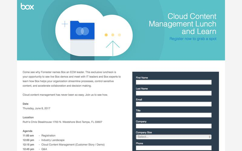 Cloud Content Management Lunch and Learn