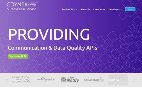 CDYNE Corp-Communcation and Data Quality APIs | CDYNE Corp