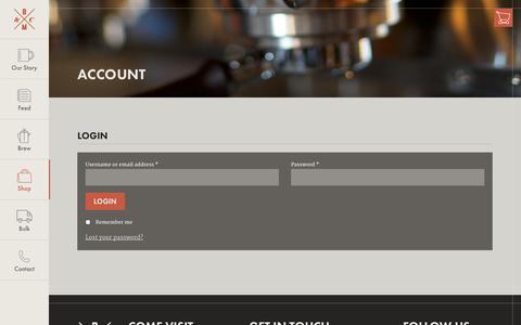 Screenshot of Login Page brickandmortarcoffee.com - Account - Brick & Mortar Coffee - captured Nov. 3, 2014