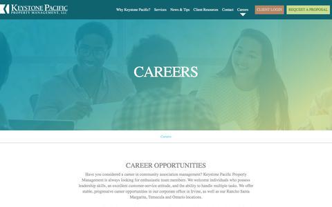 Screenshot of Jobs Page kppm.com - Community Association & Property Management Jobs - captured Oct. 17, 2017