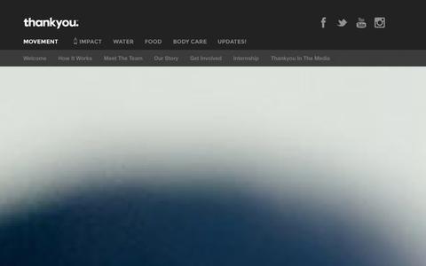 Screenshot of Press Page thankyou.co - Thankyou - Movement - captured Sept. 22, 2014